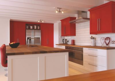 560-3S  Tesrol White & Red Polyurethane 30% Satin